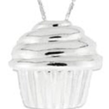 Sterling Silver Cupcake Pendant: Personalized Boutique, Inc.