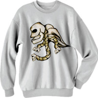 Angel Skull Sweatshirt created by Rudimencial Design | Print All Over Me