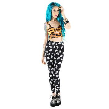 "Women's ""Misfits Feind Skull"" Leggings by Iron Fist (Black)"