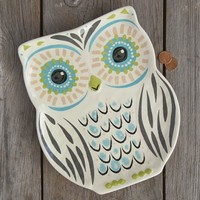 Folk  Owl  Platter  From  Natural  Life