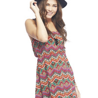 Tribal Beaded Strap Dress | Wet Seal