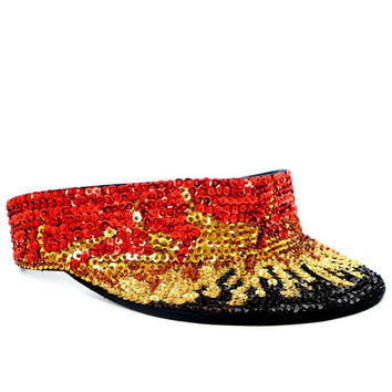 SEQUIN FLAME VISOR
