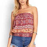 Paisley Floral Crop Top