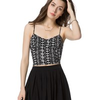 POP TRIANGLE CROPPED CORSET CAMI