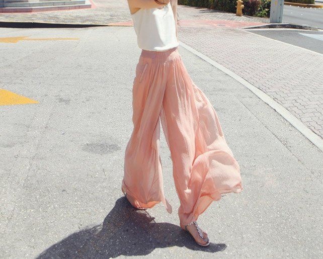 Chiffon pants033 by YL1dress on Etsy
