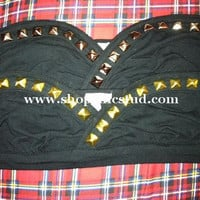 Studded Bra Gold OR Silver Studded Bandeau