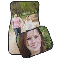 Personalized photo car mats set. Make your own!
