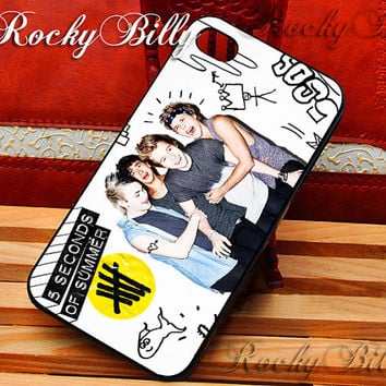 5SOS Colorfull Photos for iPhone 4/4s/5/5s/5c - iPod 2/4/5 - Samsung Galaxy s2/s3/s4/s5 - Black/White