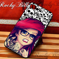 Disney Tattooed Ariel for iPhone 4/4s/5/5s/5c - iPod 2/4/5 - Samsung Galaxy s2/s3/s4/s5 - Black/White