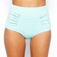 ASOS Seersucker High Waisted Bikini