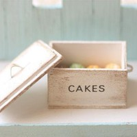 Dollhouse Miniature Food - Miniature Shabby Chic Cake Box | Luulla