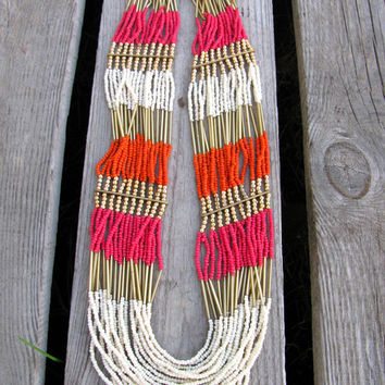 Beaded Waterfall Necklace