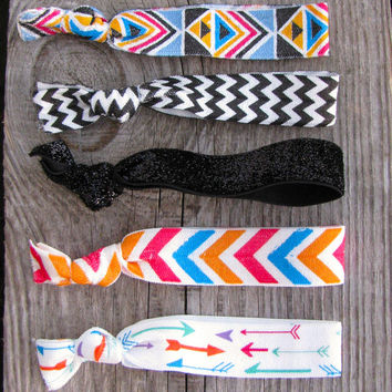 Hair Ties - Black Sparkle Pack