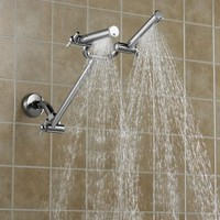 The Pressure Boosting Dual Showerhead - Hammacher Schlemmer