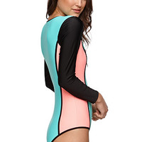 Body Glove Neo What Paddle One Piece Bathing Suit - Womens Swimwear - Light Lagoon -