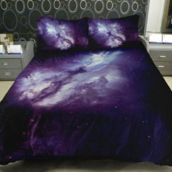 Galaxy Quilt Cover Galaxy Duvet Cover Galaxy Sheets Space Sheets Outer Space Bedding Set Bedspread…