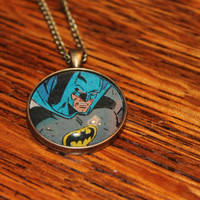 30mm Pendant Comic Necklace: Intense Batman II