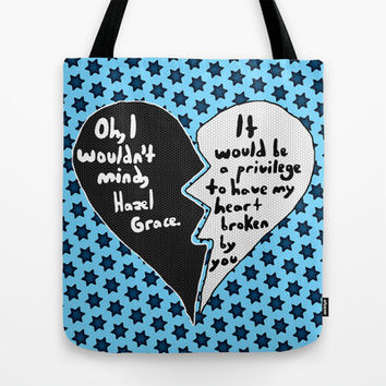 The Fault in Our Stars 9 Tote Bag by Anthony Londer  Society6
