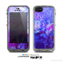 The Abstract Blue & Pink Surface Skin for the Apple iPhone 5c LifeProof Case
