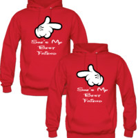 SHE IS MY BEST FRIEND DESIGNED Couple Hoodie