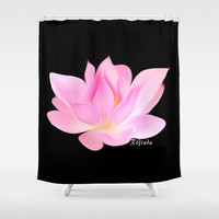Simply lotus (Karen's) Shower Curtain by Giada Rossi | Society6