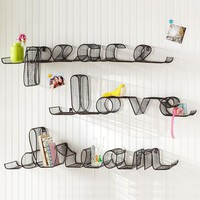 Wire Word Shelf