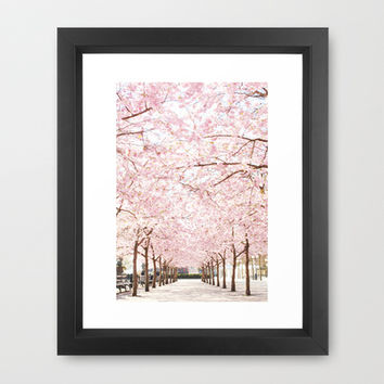 Cherry Blossoms Framed Art Print by Aubergine & Purple