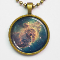 Nebula Necklace - Carina Nebula Space Photo Necklace by FantasticDIY