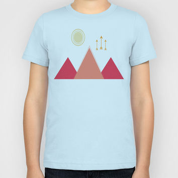Full Moon, Desert Mountain Kids T-Shirt by DuckyB (Brandi)