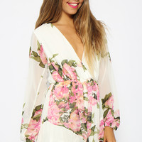 Unstoppable Playsuit - White Floral
