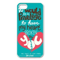 John Green Okay The Fault in Our Stars Phone Case Protect iPhone 5 5S FSIP53602
