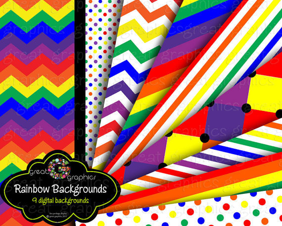 Rainbow backgrounds rainbow digital backgrounds by GreatGraphics