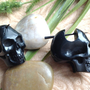 Stick Post Earrings ''Big Skull Design Horn by DewiDesign on Etsy