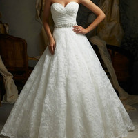 Sexy white / ivory lace A-line Wedding Dress Custom Size 6 8 10 12 14 16 18 20 + + +