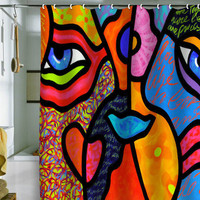 DENY Designs Home Accessories | Steven Scott Eye To Eye Shower Curtain