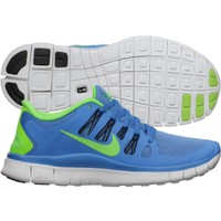 Nike Women's Free 5.0+ Running Shoe - Blue/Lime | DICK'S Sporting Goods