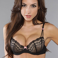 Betsey Johnson The Eyelet Lace Bra in Raven Black : Karmaloop.com - Global Concrete Culture