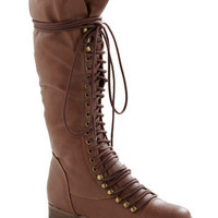 Follow the Cedar Boot in Medium Brown