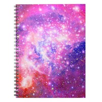 Pink & purple galaxy glitter girly nebula stars