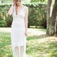 Crochet Wedding dress PATTERN ONLY, crochet pattern