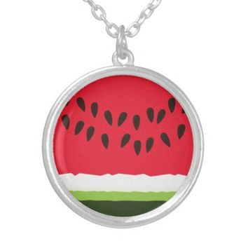 Funny Red & green Watermelon Slice cartoon