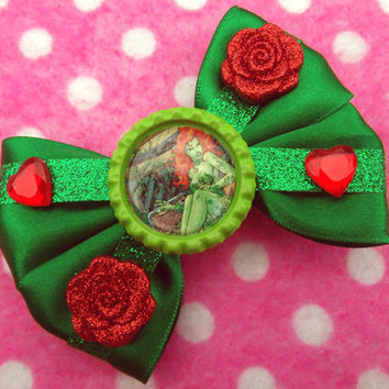 Batman Poison Ivy Hair Bow