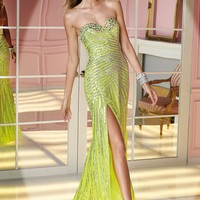 Alyce 6204 Sequin Stripped Dress Website Special