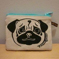 Pug Change Purse by HappyFantastic on Etsy