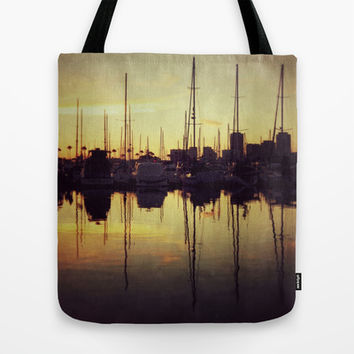 Marina Bay Lines Tote Bag by RichCaspian | Society6