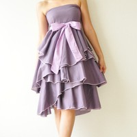 Waft Purple Cocktail Dress 2 Sizes Available by aftershowershop