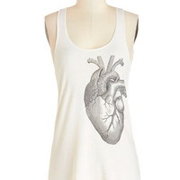 ModCloth Quirky Mid-length Tank top (2 thick straps) Muscle and Flow Tank