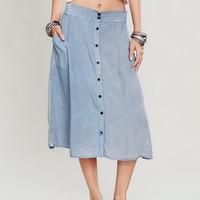 Tambourine Studio Womens Marina Buttondown Skirt -