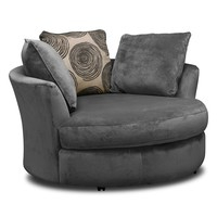 Cordoba Upholstery Swivel Chair - Value City Furniture