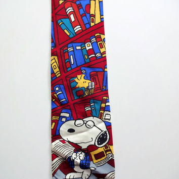 Vintage Joe Cool Snoopy Necktie